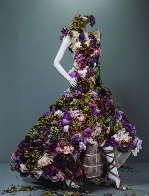 Mcqueen flower dress