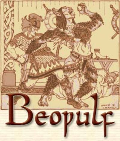 the important literary elements in the epic of beowulf
